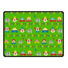 Circus Double Sided Fleece Blanket (small)  by Valentinaart