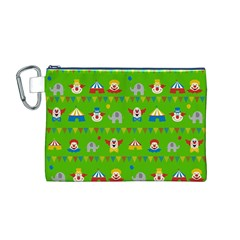 Circus Canvas Cosmetic Bag (m) by Valentinaart