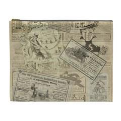 Vintage Newspaper  Cosmetic Bag (xl) by Valentinaart