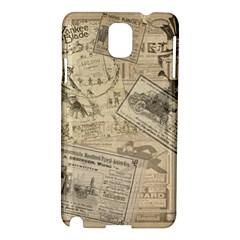 Vintage Newspaper  Samsung Galaxy Note 3 N9005 Hardshell Case by Valentinaart