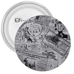 Vintage Newspaper  3  Buttons by Valentinaart