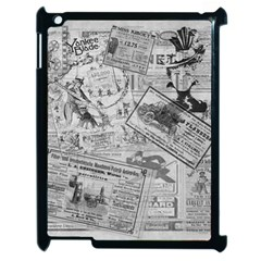 Vintage Newspaper  Apple Ipad 2 Case (black) by Valentinaart