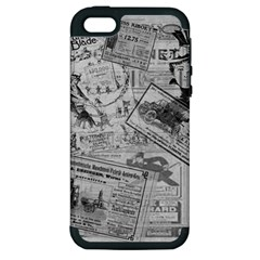 Vintage Newspaper  Apple Iphone 5 Hardshell Case (pc+silicone) by Valentinaart