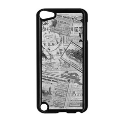 Vintage Newspaper  Apple Ipod Touch 5 Case (black) by Valentinaart
