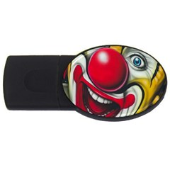 Clown Usb Flash Drive Oval (4 Gb) by Valentinaart