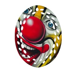 Clown Oval Filigree Ornament (two Sides) by Valentinaart