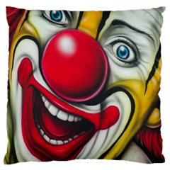 Clown Large Cushion Case (one Side) by Valentinaart