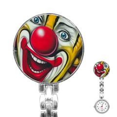 Clown Stainless Steel Nurses Watch by Valentinaart