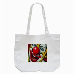 Clown Tote Bag (white) by Valentinaart
