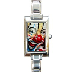 Clown Rectangle Italian Charm Watch by Valentinaart