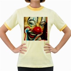 Clown Women s Fitted Ringer T Shirts by Valentinaart