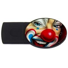 Clown Usb Flash Drive Oval (2 Gb) by Valentinaart