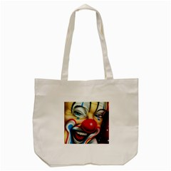 Clown Tote Bag (cream) by Valentinaart