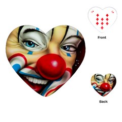 Clown Playing Cards (heart)  by Valentinaart