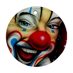 Clown Round Ornament (two Sides) by Valentinaart