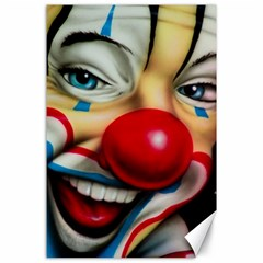 Clown Canvas 24  X 36  by Valentinaart