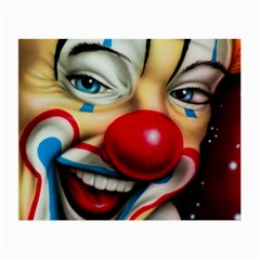 Clown Small Glasses Cloth (2 Side) by Valentinaart