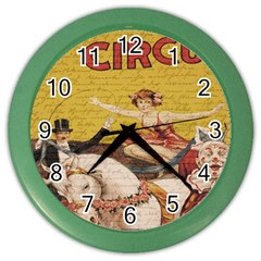 Vintage Circus  Color Wall Clocks by Valentinaart