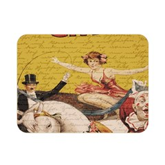 Vintage Circus  Double Sided Flano Blanket (mini)  by Valentinaart