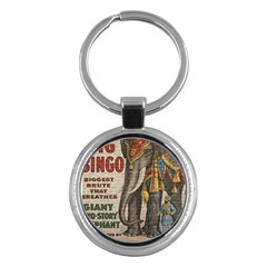 Vintage Circus  Key Chains (round)  by Valentinaart