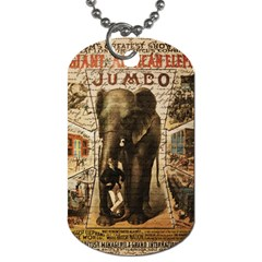 Vintage Circus  Dog Tag (two Sides) by Valentinaart