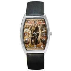 Vintage Circus  Barrel Style Metal Watch by Valentinaart
