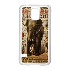 Vintage Circus  Samsung Galaxy S5 Case (white) by Valentinaart