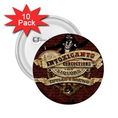 Vintage Circus  2 25  Buttons (10 Pack)  by Valentinaart
