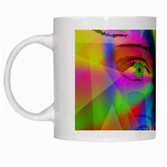Rainbow Girl White Mugs by Valentinaart
