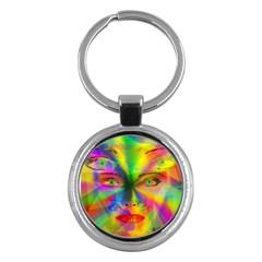 Rainbow Girl Key Chains (round)  by Valentinaart
