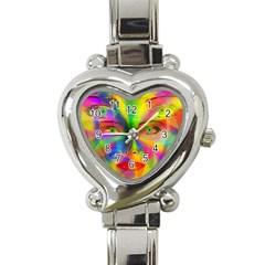 Rainbow Girl Heart Italian Charm Watch by Valentinaart