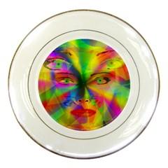 Rainbow Girl Porcelain Plates by Valentinaart