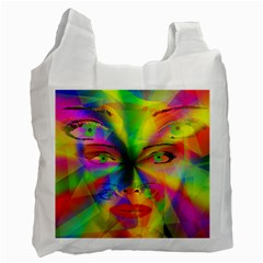 Rainbow Girl Recycle Bag (one Side) by Valentinaart