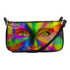 Rainbow Girl Shoulder Clutch Bags by Valentinaart