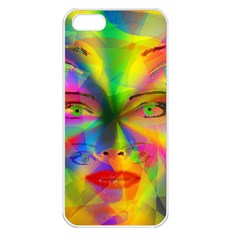Rainbow Girl Apple Iphone 5 Seamless Case (white) by Valentinaart