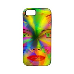 Rainbow Girl Apple Iphone 5 Classic Hardshell Case (pc+silicone) by Valentinaart