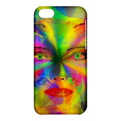 Rainbow Girl Apple Iphone 5c Hardshell Case by Valentinaart