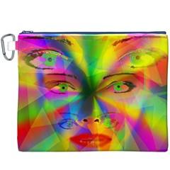 Rainbow Girl Canvas Cosmetic Bag (xxxl) by Valentinaart
