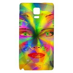 Rainbow Girl Galaxy Note 4 Back Case by Valentinaart
