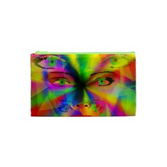 Rainbow Girl Cosmetic Bag (xs) by Valentinaart