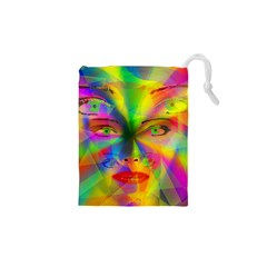 Rainbow Girl Drawstring Pouches (xs)  by Valentinaart