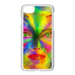 Rainbow Girl Apple Iphone 7 Seamless Case (white) by Valentinaart