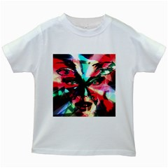 Abstract Girl Kids White T Shirts by Valentinaart