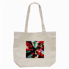 Abstract Girl Tote Bag (cream) by Valentinaart