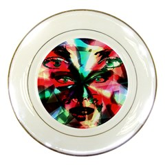 Abstract Girl Porcelain Plates by Valentinaart
