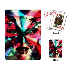 Abstract Girl Playing Card by Valentinaart