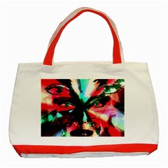Abstract Girl Classic Tote Bag (red) by Valentinaart