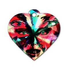 Abstract Girl Dog Tag Heart (two Sides) by Valentinaart
