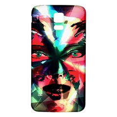 Abstract Girl Samsung Galaxy S5 Back Case (white) by Valentinaart