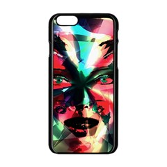 Abstract Girl Apple Iphone 6/6s Black Enamel Case by Valentinaart